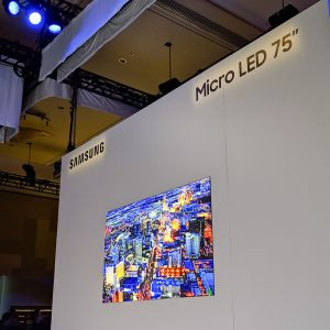 Samsung 75-inch Micro LED 4K TV displayed at CES 2019