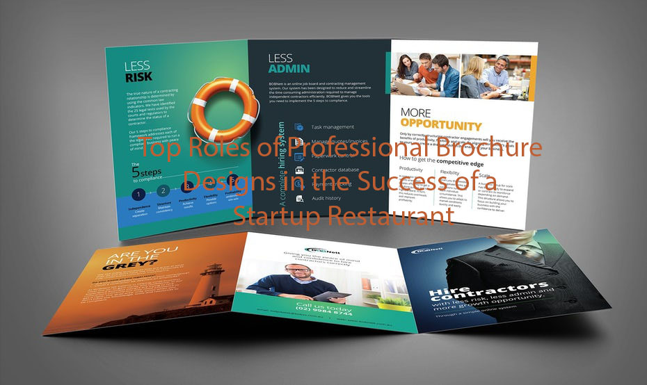 Top Roles of Professional Brochure Designs in the Success of a Startup Restaurant